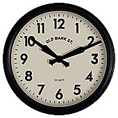 Tesco Black Station Clock