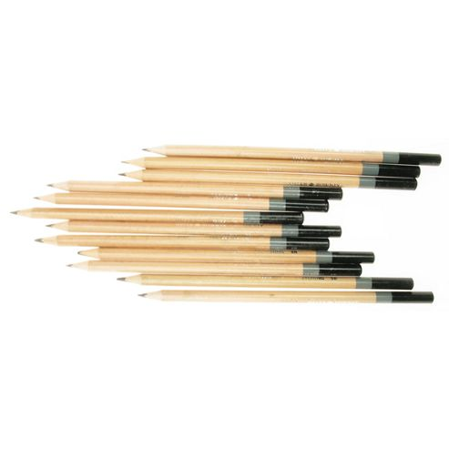 Daler Simply Sketching Pencils - 12 Assorted Graphite Pencils