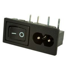 Figure-of-8 Mains Power Inlet with Switch