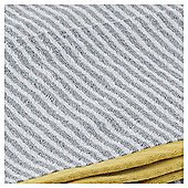 Tesco  Stripe Bath Sheet - Grey