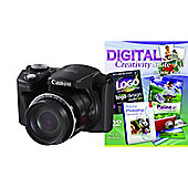 DS Canon Powershot SX500 IS Camera Black  + Photoshop Elements 10
