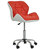 Peris Office Chair Red with White Under