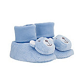 Mothercare Bear Rattle Booties - Blue