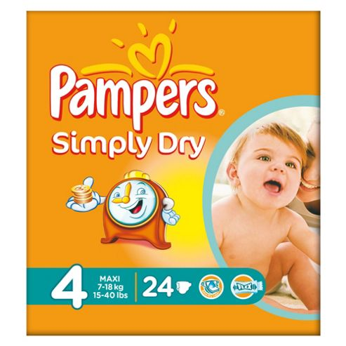 Pampers Simply Dry Size 4 Carry Pack - 24 nappies