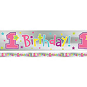 One Derful Girl 12 Foot Banner (each)