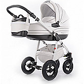 DaVos Baby Heaven Pure Leather 2 in1 Modern Design Pram and Pushchair