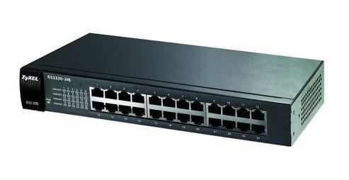 ZyXEL ES1100-24E 24 port 10/100 Unmanaged Desktop Switch