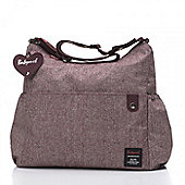 Babymel Big Slouchy Tweed Aubergine