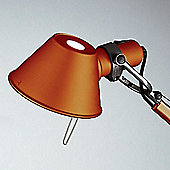 Artemide Tolomeo micro table lamp - 1x60W halogen (E 14) - Anodized Orange