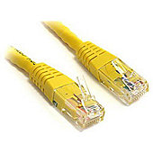 Moulded Cat6 500 MHz 7-feet Crossover UTP Patch Cable - Yellow