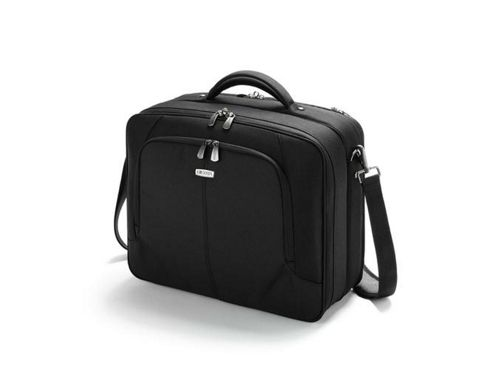 Dicota MultiTwin Carry Case (Black) for 15 inch to 164 inch Notebook, Printer and Documents