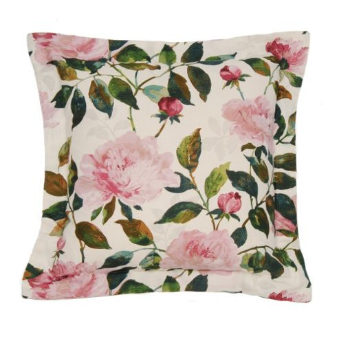 Edinburgh Weavers Peony Cushion in Fuchsia