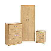 Ideal Furniture Alaska Bedroom Collection - Oak