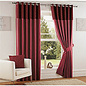 Curtina Woburn Red 46x90 inches (116x228cm) Eyelet Curtains