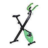 Confidence Fitness Folding Exercise X Bike Green