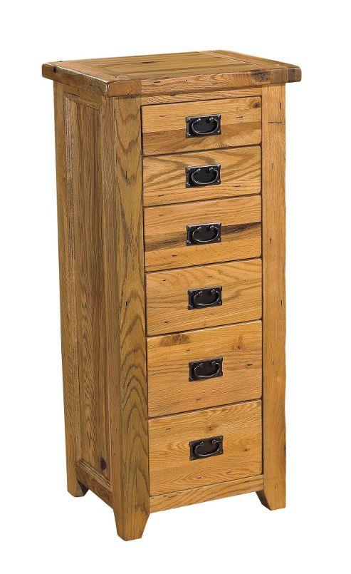 Kelburn Furniture Parnell 6 Drawer Wellington Chest