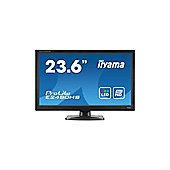 Iiyama ProLite E2480HS (23.6 inch) LED Backlit LCD Monitor 1000:1 300cd/m2 (1920x1080) 2ms D-Sub/DVI-D/HDMI (Black)