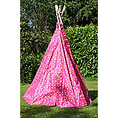 Garden Games Pink Love Heart Wigwam Play Tent