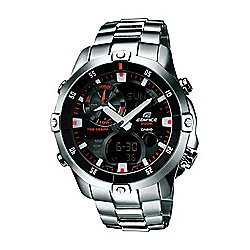 Casio Edifice Mens Stainless Steel Alarm Chronograph Watch EMA-100D-1A1VEF