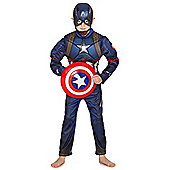 Marvel Avengers Assemble Captain America Dress-Up Costume - 3-4 yrs