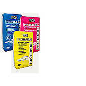 White Single Part Rapid Set Flexible Wall and Floor Adhesive, All Tile Types 20KG