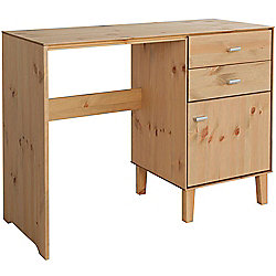 Angle - Solid Wood Storage Dressing Table / Computer Desk - Oak