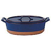 Terracotta Casserole Dish - Blue glaze