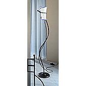 Ferroluce Rimini 1 Light Floor Lamp in Blue / Black Copper