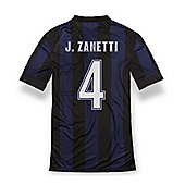 2013-14 Inter Milan Home Shirt (J.Zanetti 4) - Kids - Black