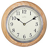 Acctim Traditional Wood Arabic Dial Clock 32.5cm