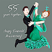 Holy Mackerel Emerald anniversary Greetings Card