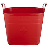 40L Plastic Flexi Tub with Handles - Red