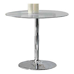 Wilkinson Furniture Orbit Round Dining Table - Clear