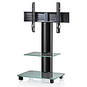 VCM Tosal TV Stand - Black / Frosted