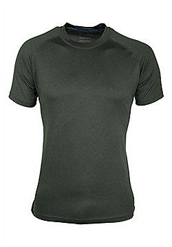 Agra Mens Melange T-Shirt - Green
