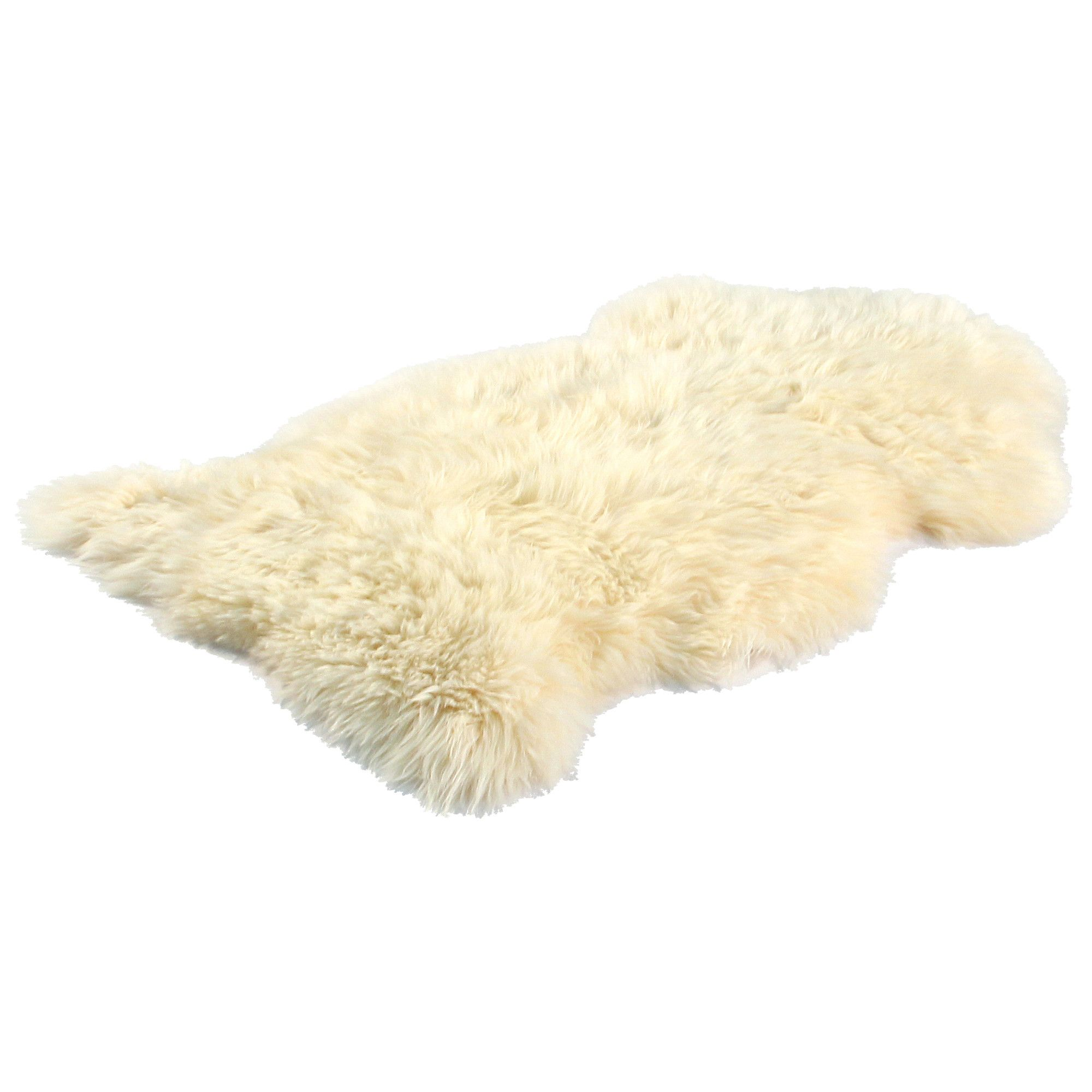 Bowron Sheepskin Long Wool Gold Star Rug in Champagne - 180cm H x 214cm W (Eight Piece) at Tesco Direct