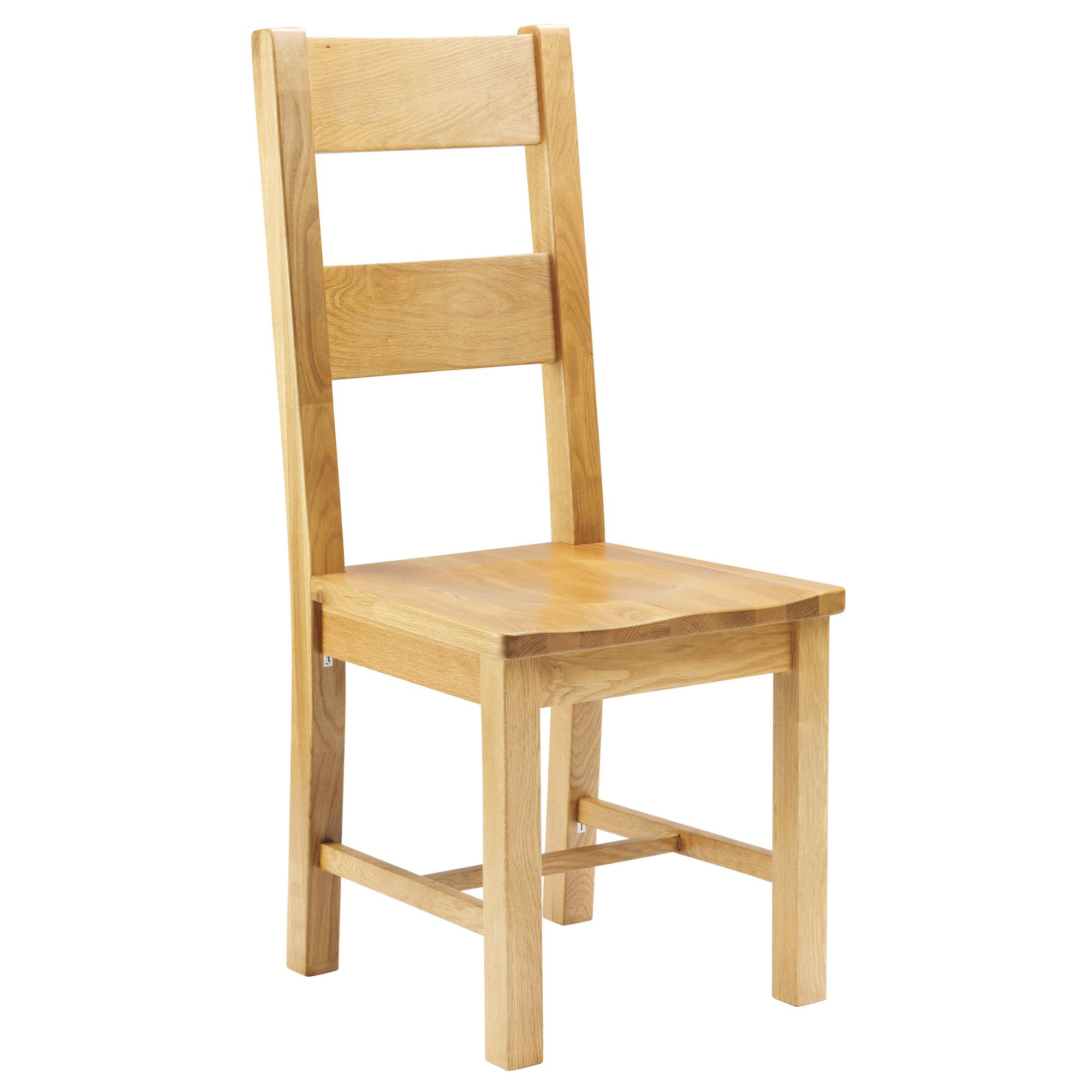 Thorndon Taunton Dining Chair with Wooden Seat in Medium Oak