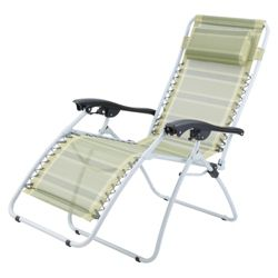 Gelert Mapleton Recliner Chair - Green Stripe