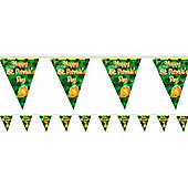 St. Patrick's Day Decorations Plastic Flag Banner - 3.65m (each)