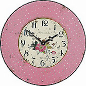 Roger Lascelles Clocks Pink Polka Dot Wall Clock