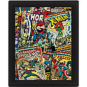 Marvel Comics Framed 3D Picture