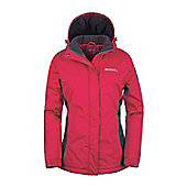 Moon Womens Snowproof Hooded Fleece Lined Snowboarding Skiing Ski Jacket - Pink