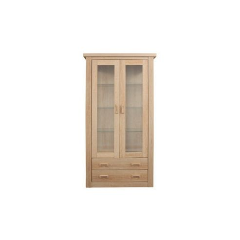 Caxton Countryman Tall Display Cabinet in Chestnut