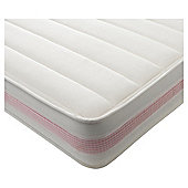 Kids Deluxe Mattress Only Single Pink Gingham