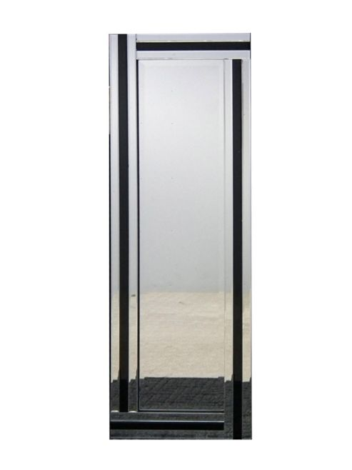 Buy large modern black and silver triple edge all glass for Black venetian mirror
