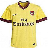 2010-11 Arsenal Away Nike Football Shirt - Yellow