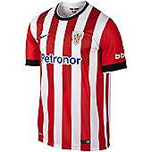 2014-2015 Athletic Bilbao Home Nike Football Shirt - Red