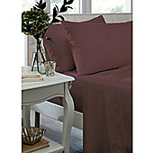 Catherine Lansfield Home Non Iron Percale Combed Polycotton Double Bed Box Pleated Base Valance CLARET