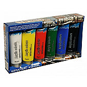 6 Piece 75ml Acrylic Paint Set