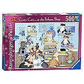 Ravensburger Crazy Cats at Perfume Shop, 500 Piece Puzzle